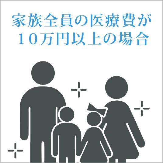 医療費控除 家族の医療費の合算